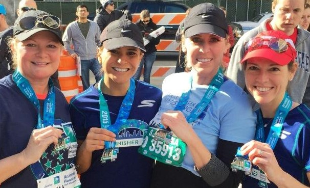 Four of our HERO charity entry runners in the 2015 Chevron Houston Marathon.