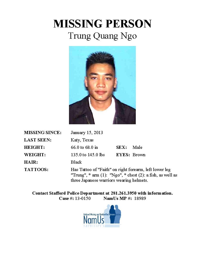 Long-Term Missing – Texas Center for the Missing